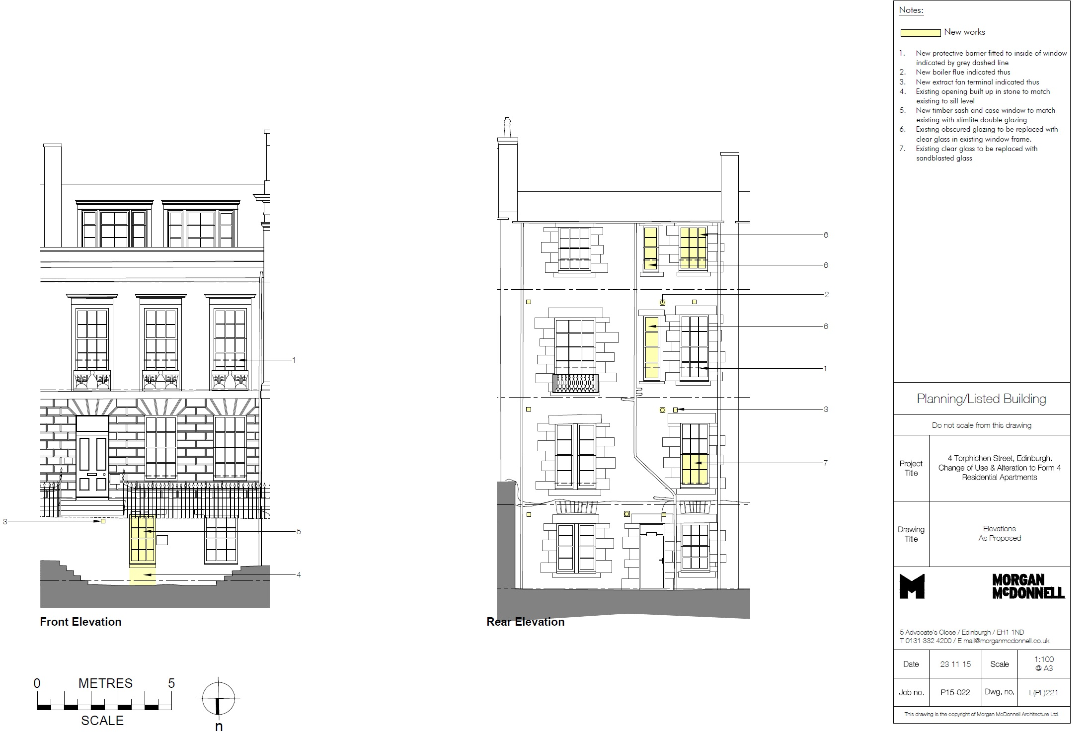 160513 4 Torphichen Street Elevations